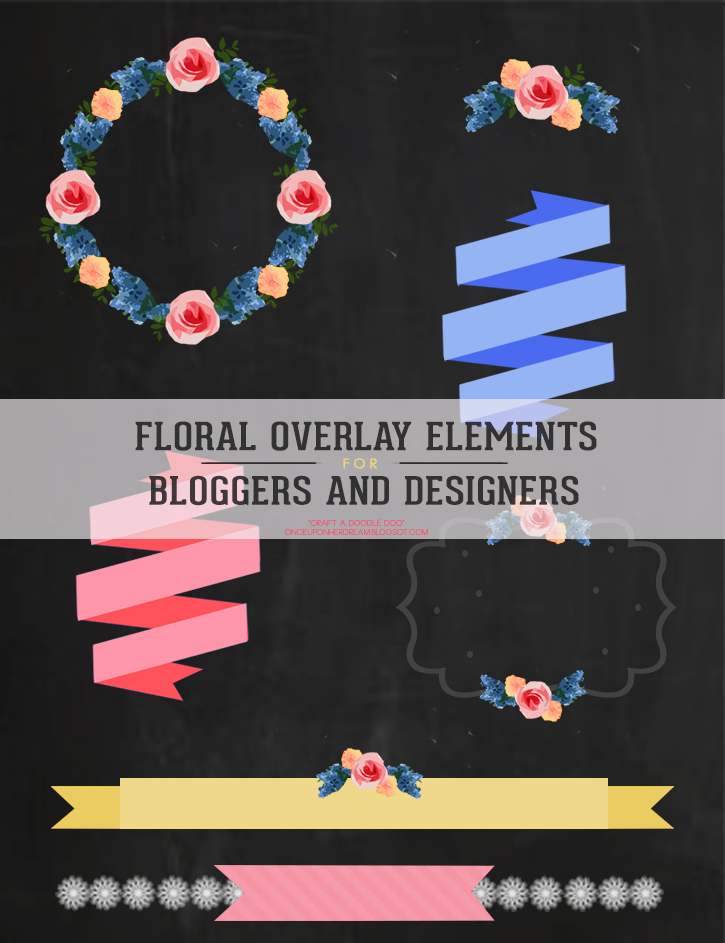 Freebie - floral overlay elements from carft a doodle doo