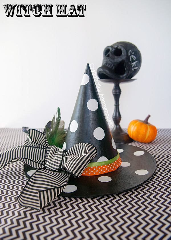 Tutorial - Polka Dot witch-hat from Craftaholicsanonymous