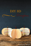 Tutorial | DIY 3D Paper Pumpkins