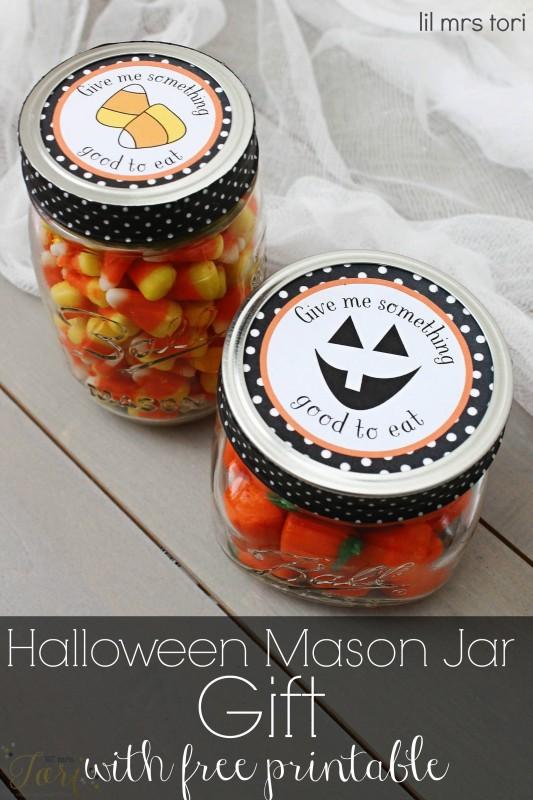 Freebie - halloween mason jar label from Lil mrs Tori