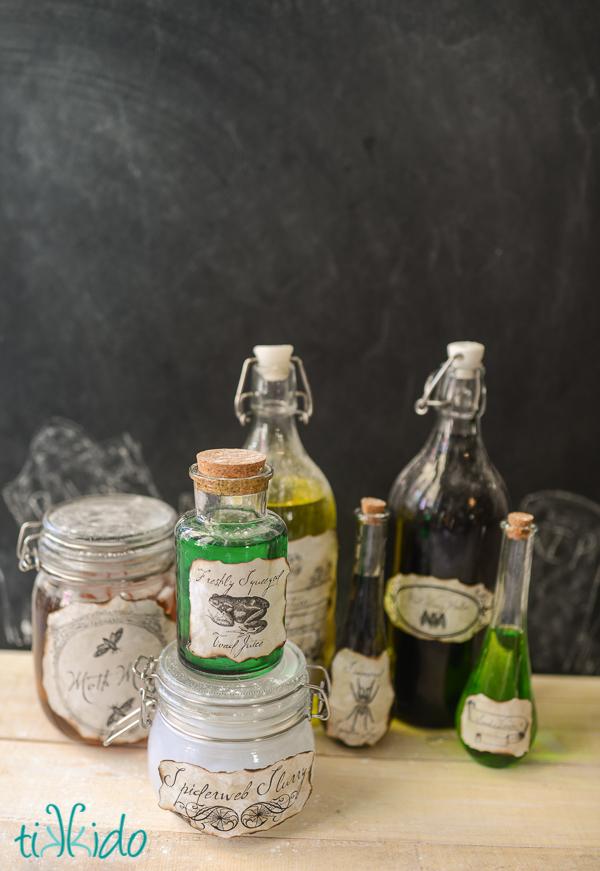 Halloween Potion Bottles - Free  Printables at Tikkido