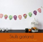Tutorial | Halloween Skull Garland