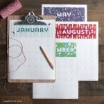 4 Free Printable Calendars for 2015