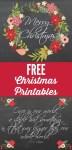 Freebie | Printable Christmas Posters