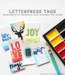 Tutorial | Letterpress Tags for December Daily