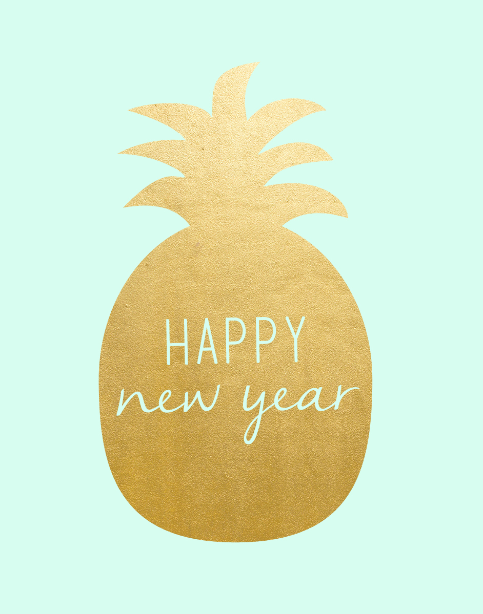 pineapplemintgoldHAPPYNEWYEAR