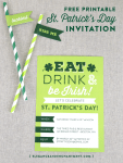 Freebie | Printable St. Patrick's Day Invite
