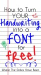 Tutorial |  Turn Your Handwriting into a Font for Free