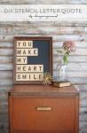 Tutorial | DIY Stencil Letter Quote