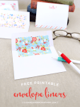 Freebie | Printable Envelope Liners