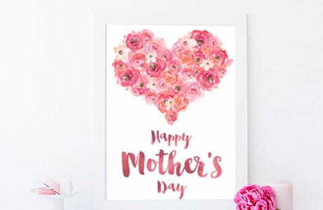 Freebie | Watercolor Mother's Day Card