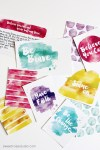 Freebie | Watercolor Project Life Cards