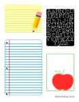 Freebie | Back To School Journal Cards