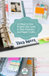 22 Ways to Use Project Life Cards