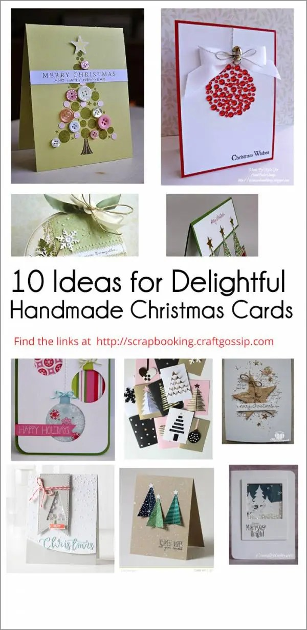 10 Ideas for Delightful Handmade Christmas Cards