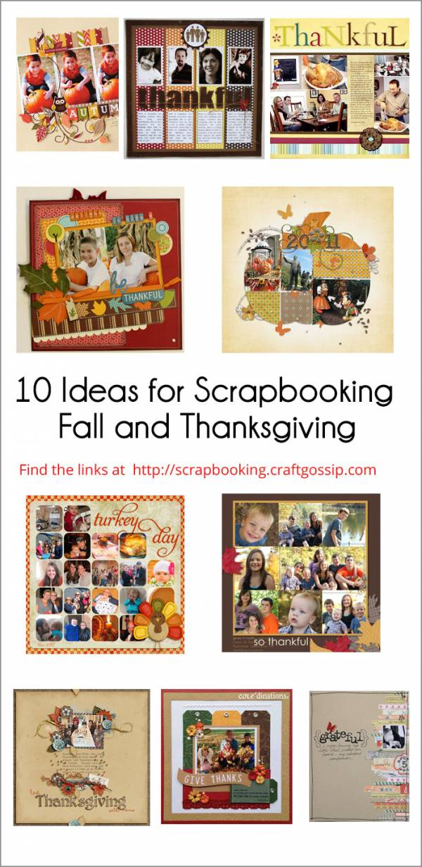 10 Ideas for Scrapbooking Fall and Thanksgiving