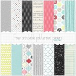 Free Christmas Printable or Digital Patterned Papers