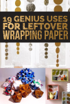 19 Clever Ways To Use Leftover Wrapping Paper (also in French!)