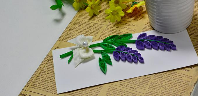 How to Make Valentine Day Quilling Lavender Cards