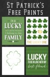 Saint Patrick's Day Free Prints