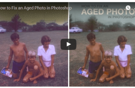 How to fix aged photos in Photoshop