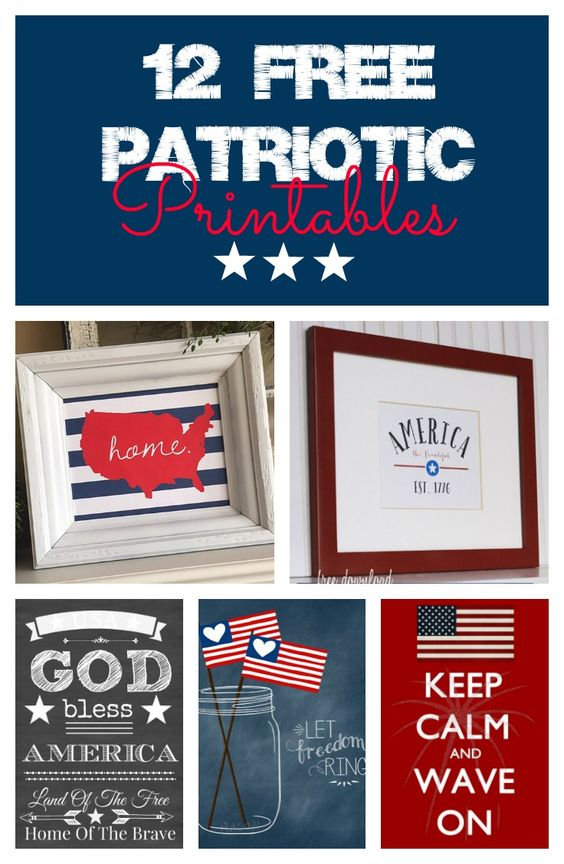 12 of the best free printables for July fourth