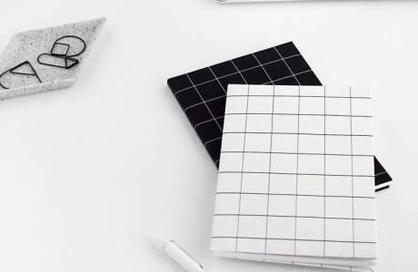 DIY Grid Notebook Covers + Free Printable