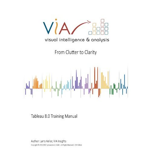 Book review The Tableau 80 Training Manual u2013 From clutter to - training manual