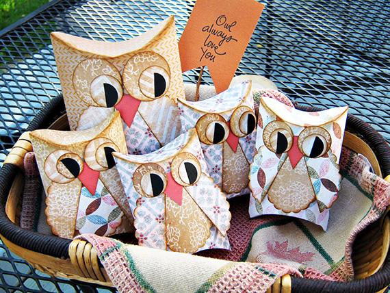 Printable Owl Pillow Treat Boxes