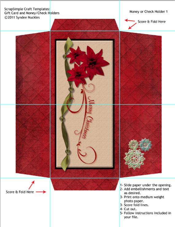 Printable Craft Tutorial Money Holder - money gift envelope template