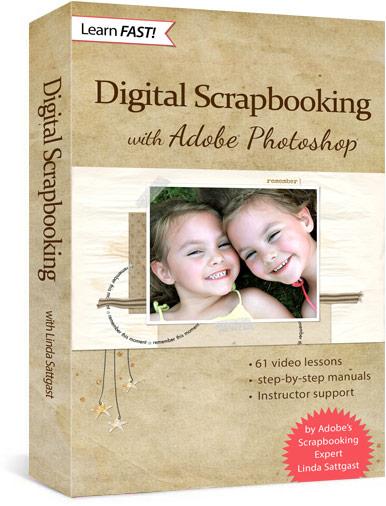 Video Classes - Learn Photoshop  digital scrapbooking SG Design Shop