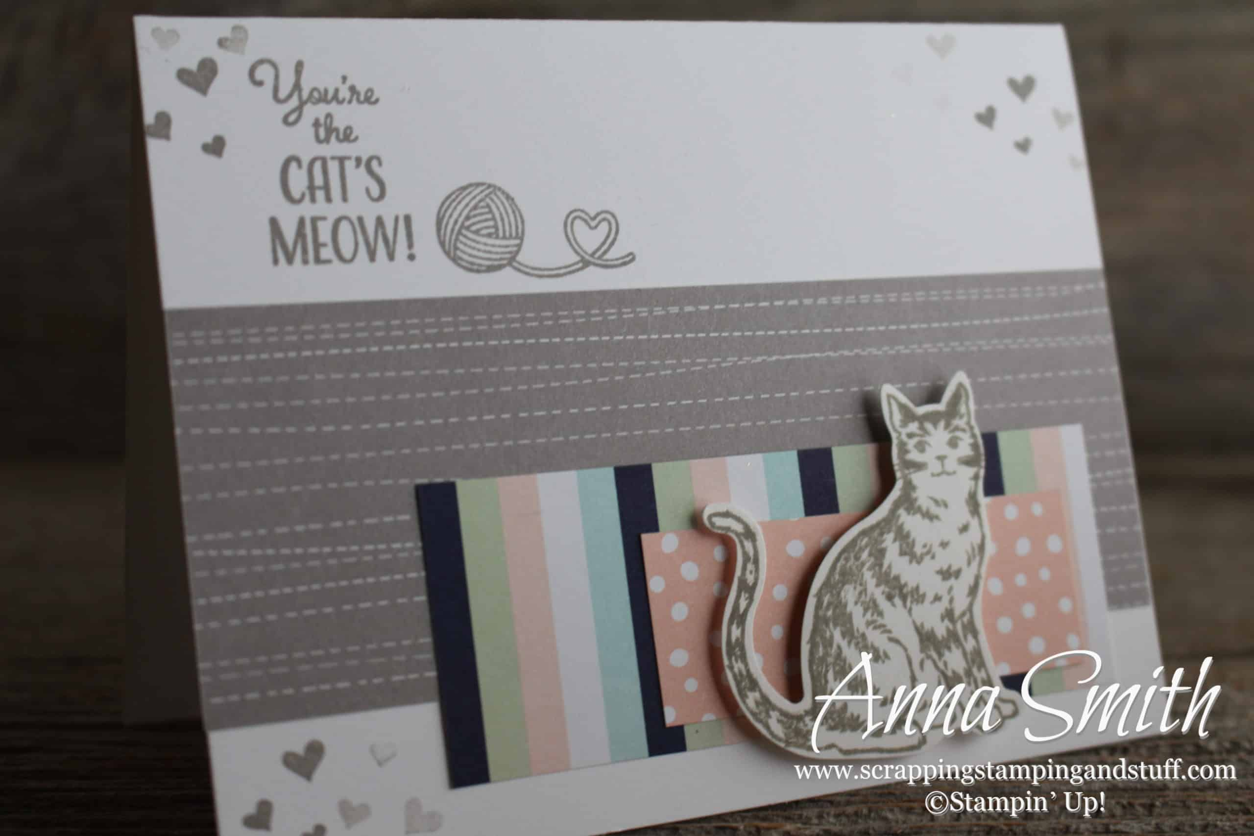 Stampin Up Karten A Cat Card Right Meow Stampin Up Nine Lives Scrapping