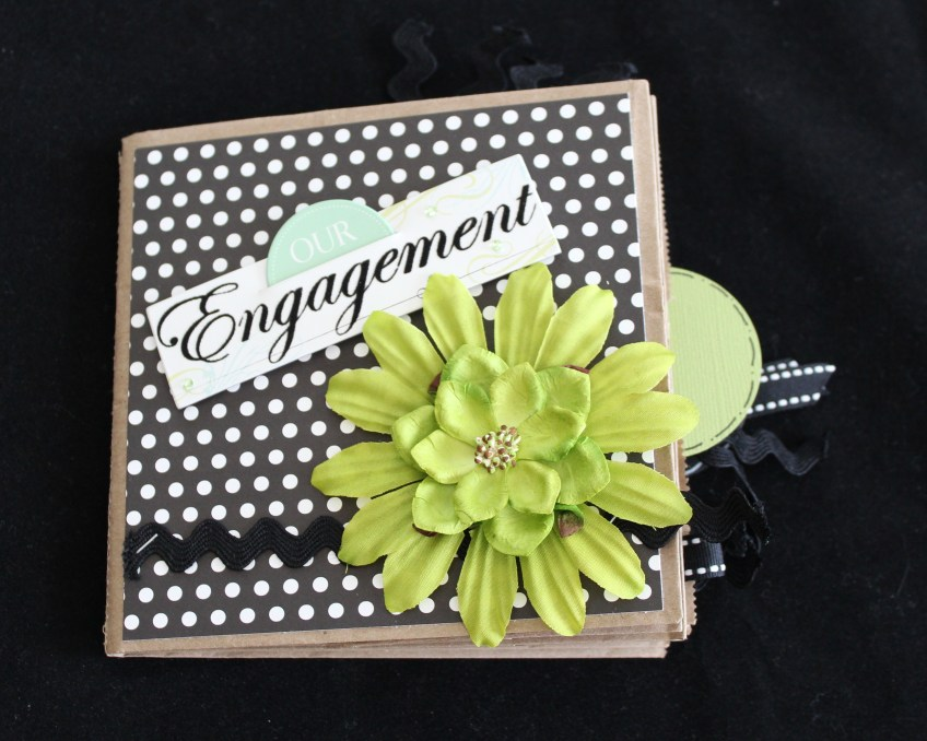 Engagement paper bag scrapbook by Scrappy Bags