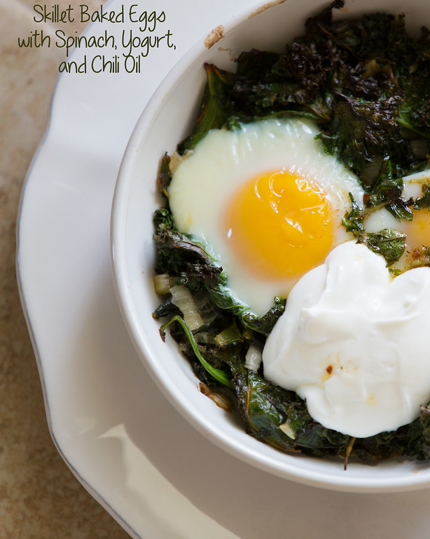 Baked Eggs with Spinach, Yogurt and Chili Oil - as good as it sounds!!!