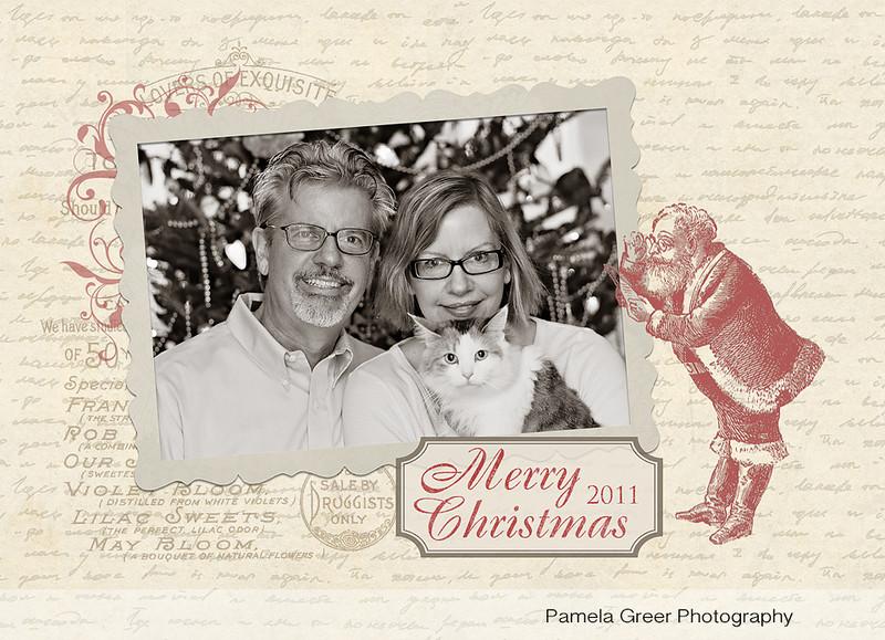Christmas Card Templates ~Vintage Postcard Style - Pamela Greer
