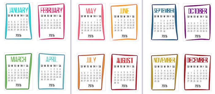 A funky 2015 calendar printable scrappystickyinkymess