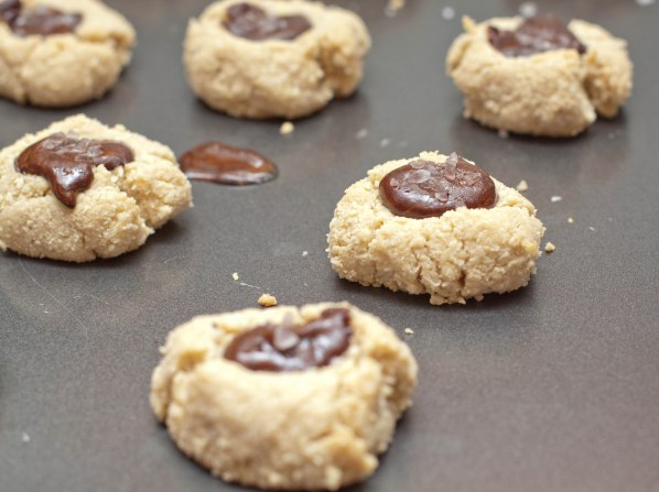 Vegan Salted Cacao Thumbprint Cookies