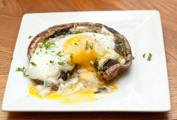 Portobello Mushroom and Egg