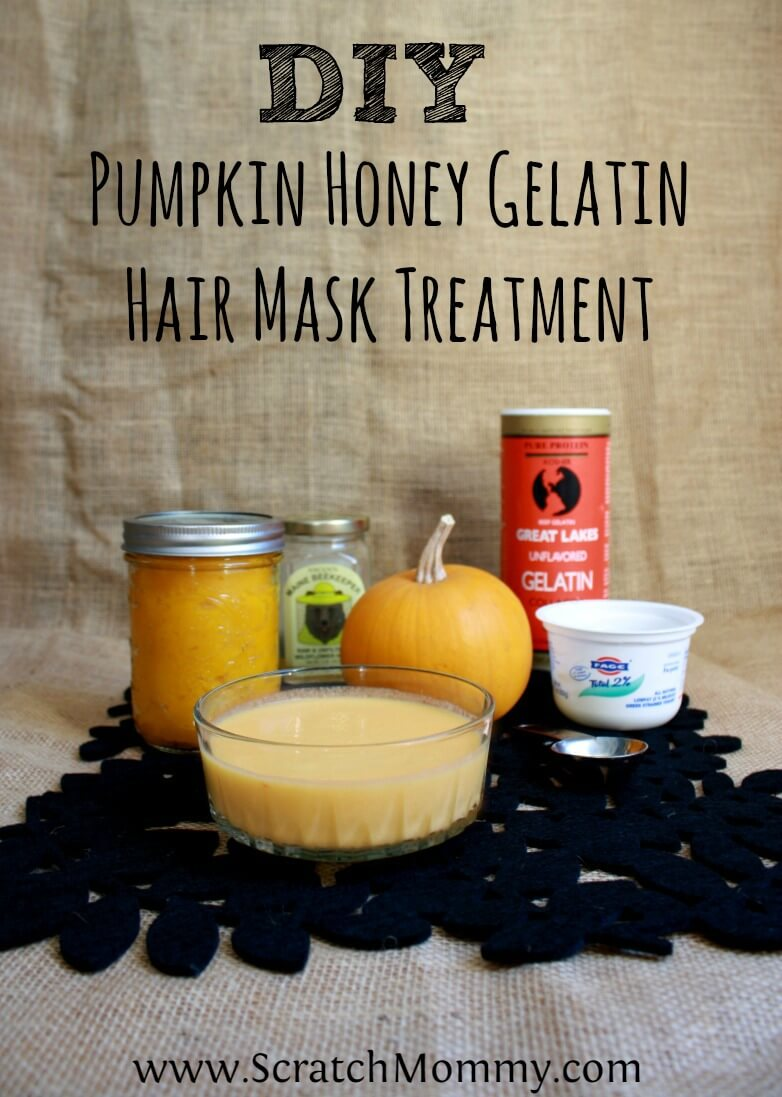 Diy Pumpkin Honey Gelatin Hair Mask Treatment Scratch Mommy