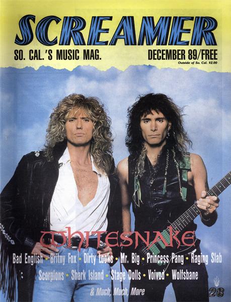 Screamer Magazine December 1989