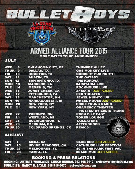Killer Bee Tour Dates