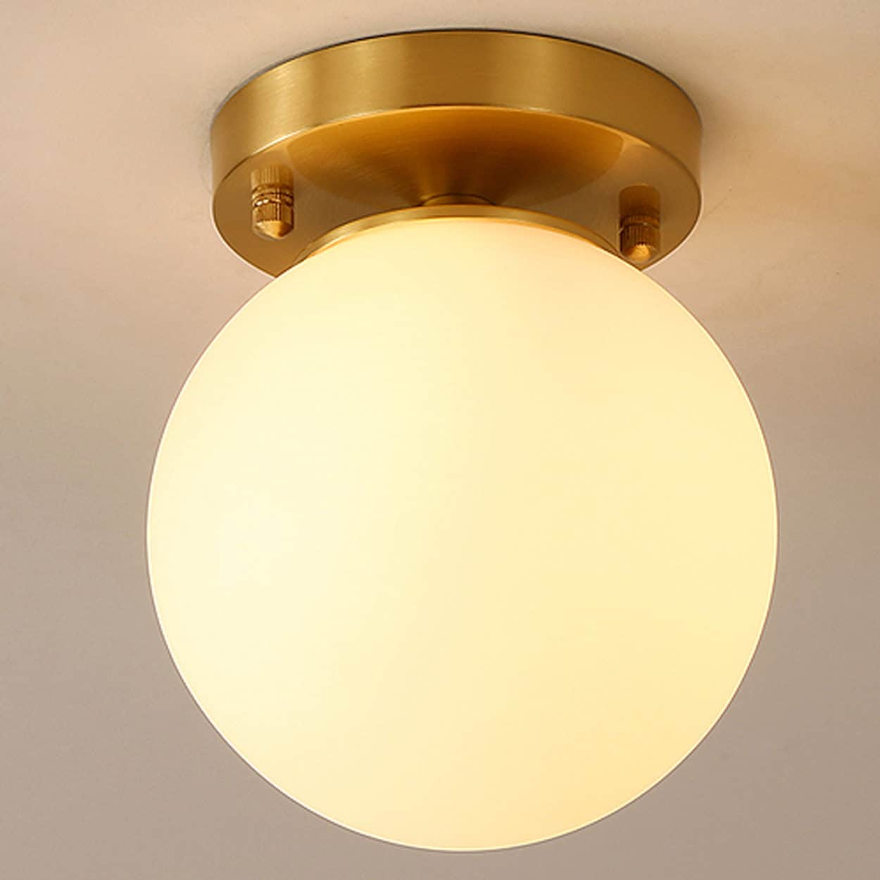 Glass Lamp Ceiling Birte Smart Glass Ball Ceiling Lamp