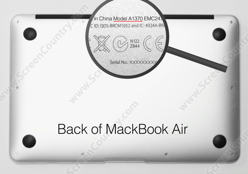 Apple A1465 Apple Macbook Air Laptop Screen Replacement - Select Your