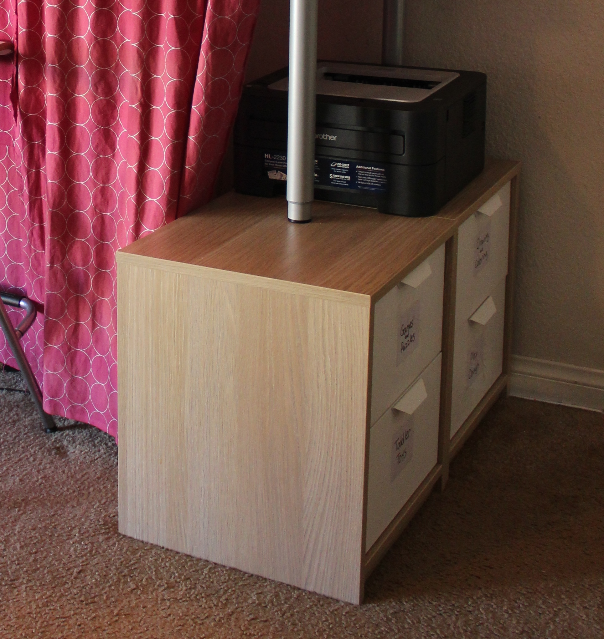 Ikea Adjustable Table Legs Small House Living Room Re-do (w/ Ikea Hack Standing Desk