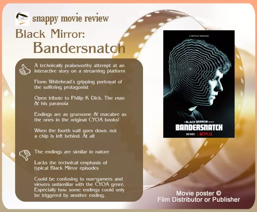 Review of Black Mirror: Bandersnatch: 5 thumbs up and 3 thumbs down