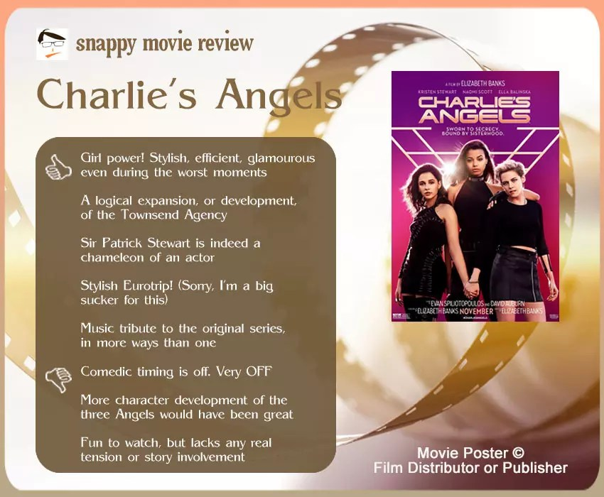 Charlie's Angels (2019) Movie Review: 5 thumbs-up and 3 thumbs-down