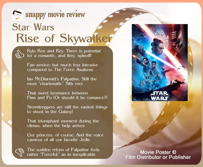 Star Wars: The Rise of Skywalker Review: 7 thumbs-up and 1 thumbs-down.