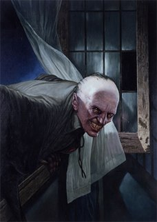 The Croglin Vampire' painted by Les Edwards