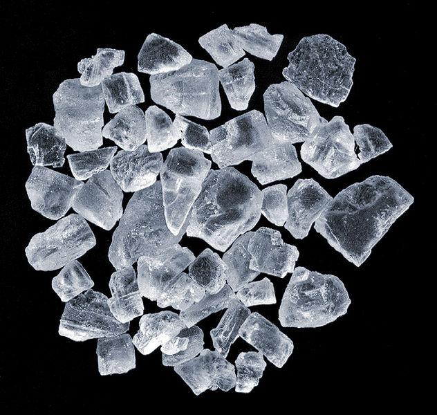 une vue rapprochée du sel