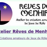 [Site] Atelier Rêves de Menhir - Créations amateur de Jeux de Rôle